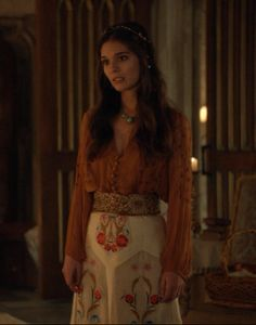 """Lady Kenna wearing the Free People Midnight Shimmer Blouse and Temperley London Toledo Floral Embroidered Silk-Organza Skirt - """"Getaway"""" Season Episode 11 Reign Fashion, Fashion Tv, Fashion Outfits, Fashion Design, Reign Season, Season 2, Lady Kenna, Film Manga, Reign Tv Show"""