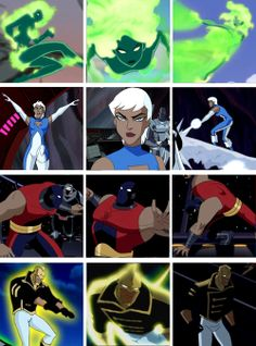 Fire, Ice, Atom Smasher and The Ray - Justice League Unlimited Dc Comics Heroes, Marvel Dc Comics, Comic Book Characters, Comic Character, Justice League Animated, Dc Movies, Marvel Vs, Cartoon Shows, Teen Titans