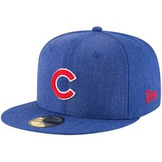 ea26636175ae8 Men s Chicago Cubs New Era Heathered Royal Crisp 59FIFTY Fitted Hat