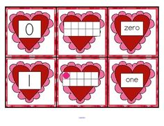 match card, 010, ten frames, valentine day, number words, memory games, number card, memories, cards