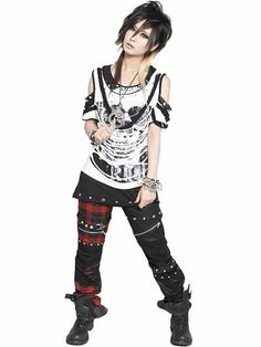 PUNKISH Two Tone Pants Coating Black x Red Plaid. See more at http://www.cdjapan.co.jp/apparel/index.html #punk #jrock