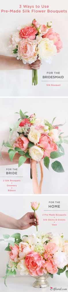 3 Ways to Use Pre-Made Silk Flower Bouquets!