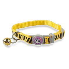 14d79b05ba3 Pet Supplies   WeMore(TM)1.0cm Wide Zebra Print Nylon Kitten Kitty Cat  Collar with Bell 6 Colors   Amazon.com