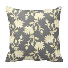 Yellow and White Victorian Floral Pattern