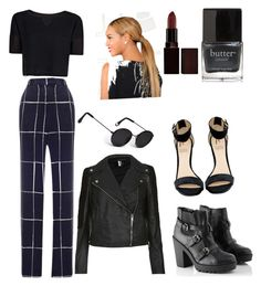 """""""Think like a man..."""" by briyanna-stewart on Polyvore featuring polyvore, fashion, style, MANGO, Topshop, Rihanna For River Island, Acne Studios, Laura Mercier, Butter London, topshop and widelegpants"""
