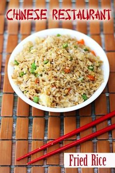 Copycat Chinese Restaurant Fried Rice Recipe