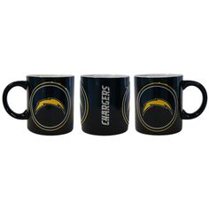 Los Angeles Chargers Coffee Mug 14oz Sculpted Warm Up Style