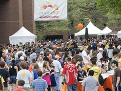 Imagine RIT, first Saturday in May - more than 30,000 show up each year for this FREE event at RIT