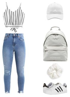 """#6"" by oliviashoc on Polyvore featuring adidas and Topshop"