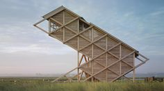 2005 Germany, Graswarder-Heiligenhafen  Bird Observation Tower on Graswarder-gmp Architekten von Gerkan, Marg und Partner