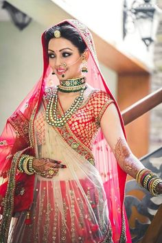 22 Ideas For Indian Bridal Outfits Red Mehndi