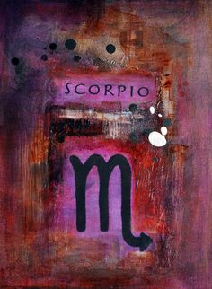 Zodiac Series/ Scorpio oil on canvas via Etsy.