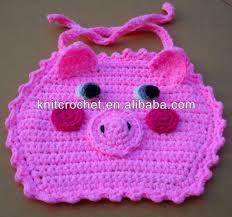 Resultado de imagen para babero en crochet PATRONES