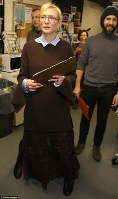 Focused:Cate Blanchett served as a judge during the cast of Hamilton's 2016 door decorati...