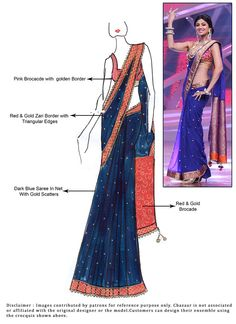 DIY Blue Net Saree