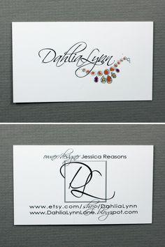 Dahlia Lynn / Jessica Reasons  www.dahlialynnlane.blogspot.com Unique Business Cards, Dahlia, Card Making, Prints, Design, Handmade Cards, Dahlias, Cards To Make