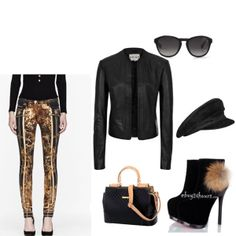 Fierce Balmain pants in this edgy, urban look put together by Eglis Balmain Pants, Edgy Chic, Urban Looks, Fashion Forward, Couture, Outfits, Style, In Trend, Swag