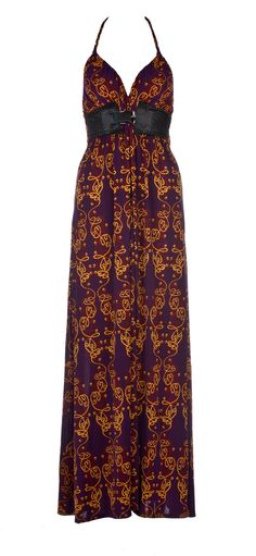 Galleon Dress-Maxi Dress with artwork print.