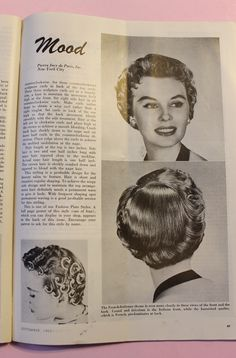 Browse free vintage patterns, retro hair tutorials and affordable vintage clothing. Enjoy diy fashion crafts and classic style inspiration Retro Hairstyles, Bun Hairstyles, Wedding Hairstyles, Updo Hairstyle, High Bun Hair, Hair Buns, Rockabilly Hair Tutorials, Bleached Hair Repair, Hair Patterns