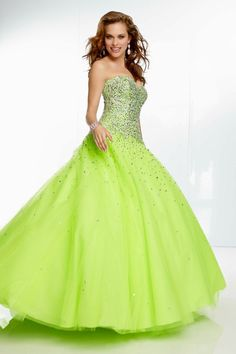 2014 Brightly Colored Dresses A Line Sweetheart Beaded Bodice Floor Length for sale