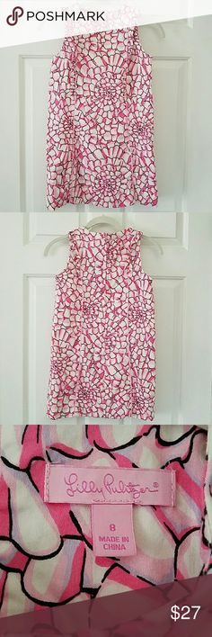Girls size 8 Lilly Pulitzer Pink Dress Fully lined, pretty pink floral dress by Lilly Pulitzer! Lilly Pulitzer Dresses Casual