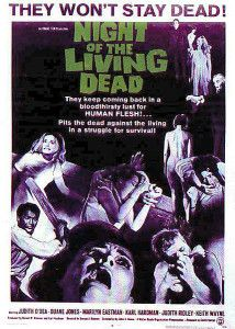 """Known as the first zombie movie, """"Night of the Living Dead"""" is a 1968 horror classic! The film was heavily criticized for its explicit content and pushed for the creation of the MPAA film rating system. Watch """"Night of the Living Dead"""" for free! Horror Vintage, Retro Horror, Zombie Movies, Scary Movies, Good Movies, Terror Movies, Horror Movie Posters, Horror Films, Night Of Living Dead"""