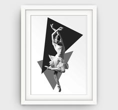 Ballerina art print dance gift dance studio wall by GalliniDesign