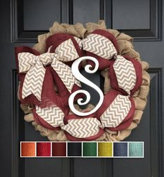 Hey, I found this really awesome Etsy listing at https://www.etsy.com/listing/462834391/initial-burlap-wreath-autumn-wreath