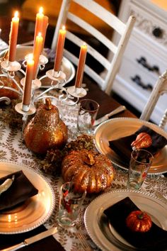Fab table decor for Thanksgiving..