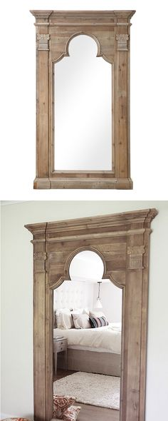 Elegantly designed, this framed wall mirror will make a stunning addition to any sophisticated living room, den, or bedroom. Exquisitely crafted from pinewood, this Argana Mirror features a Moroccan-in... Find the Argana Mirror, as seen in the #TheGenieDen Collection at http://dotandbo.com/collections/thegenieden?utm_source=pinterest&utm_medium=organic&db_sku=113946