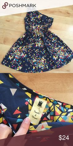 """Anthropologie one-shoulder summer dress Sz small Darling one-shoulder, confetti print dress by Thread & Needle from Anthro. Size Small, measures 17.5"""" from armpit to armpit. Elastic waist measures 12"""" flat, unstretched. Waist to hem measures about 19.5"""". Anthropologie Dresses One Shoulder"""