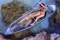Glass bottom kayaking in Phuket, Thailand