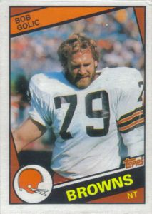 Bob Golic Rookie 1984 Topps #53 football card Football Trading Cards, Football Cards, Nfl Football, American Football, Baseball Cards, Cleveland Browns History, Cleveland Browns Football, Cleveland Rocks, Cle Browns