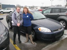 We had another happy customer this past rainy weekend! Here is Miss April Arbuckle and her new 2010 Chevy Impala! Our wonderful Jennifer Hughes helped to make sure Miss Arbuckle got a great deal on her new ride! From all of us here at Ford of Murfreesboro, congratulations on your purchase and thank you for your business! Enjoy!