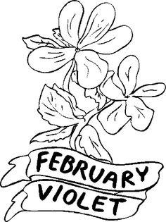 violet flower coloring pages