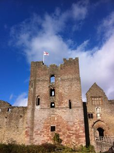 Ludlow Castle... See the flag? I stood right next to it on top