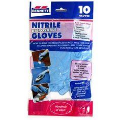 Bennett 10-Count Large Nitrile Disposable Gloves