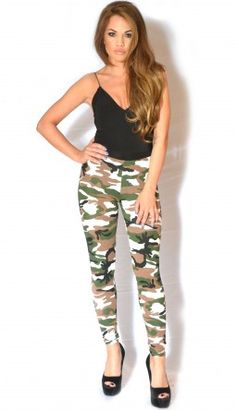Heather Army Camouflage Leggings
