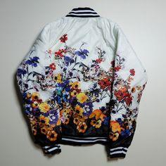 Cute Kawaii Floral Flowers Garden Birds A la Versace Souvenir Sukajan Jacket Jumper - Japan Lover Me Store