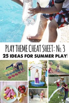 25 ideas for summer play - Perfect to try a few out on #FathersDay