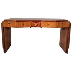 Rare Saddier French Art Deco Gull Wing Desk   From a unique collection of antique and modern desks at https://www.1stdibs.com/furniture/storage-case-pieces/desks/