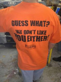 Game 4 Flyers T-Shirt.  We don't like you Either!  Sweep?