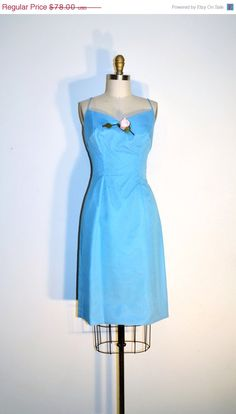 VALENTINES SALE Vintage 50s Party Dress  by LizsVintageSoffitta ($65) - Caterpillar