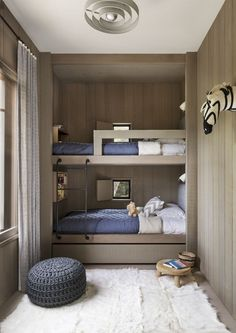 Ideas For Fun Children's Bunk Beds - Bunk Bed Design - lmolnar - Best Design and Decoration You Need Bunk Beds For Boys Room, Bunk Bed Rooms, Bunk Beds With Stairs, Kid Beds, Kids Bedroom, Bedroom Decor, Bedroom Small, Kids Rooms, Bedroom Ideas