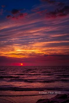 Winter sunrise in Galveston, TX