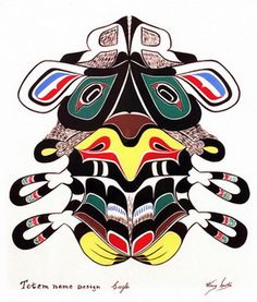Eagle painting on paper by Henry Speck, Native American Artist & Painter