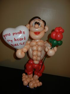 """You make my heart bulge"" Valentines day. Must make this for Matt sometime in the future..."