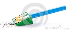 Photo about Closeup of a handheld pencil sharpener. Image of school, handheld, background - 99169032
