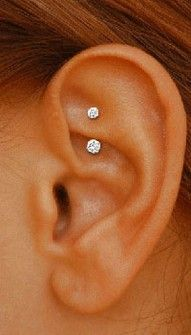 rook piercing... I love this