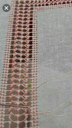 Sandra Ochoa Ayala's media content and analytics Embroidery Stitches Tutorial, Embroidery Sampler, Hardanger Embroidery, Hand Embroidery Designs, Embroidery Techniques, Beaded Embroidery, Embroidery Patterns, Stitch Patterns, Drawn Thread